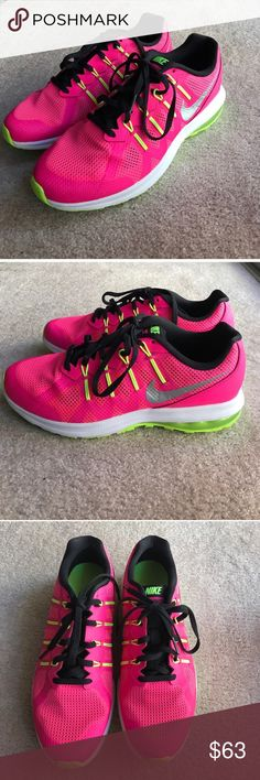 Nike max dynasty hot pink sneakers size 7Y Nike max dynasty hot pink sneakers size 7Y Nike Shoes Sneakers