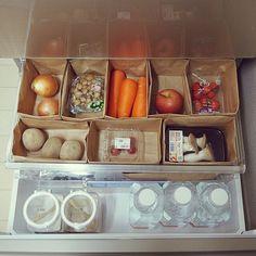 Fridge Organization, Organization Hacks, Japanese Kitchen, Konmari Method, Cool Rooms, Kitchen Storage, My Room, Declutter, Kitchen Dining