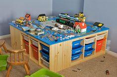 Legobord med oppbevaring under