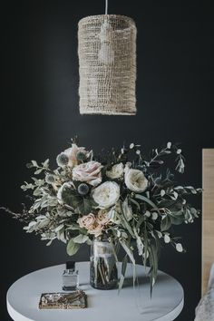 Botanical styling and floristry for weddings and events in the South West region of Western Australia Bride Bouquets, Flower Bouquet Wedding, Bouquet Flowers, Dried Flowers, Indoor Wedding, Fall Wedding, Chandelier, Pretty Flowers, Beautiful Bouquets