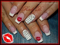 Love & Kisses by RadiD - Nail Art Gallery nailartgallery.nailsmag.com by Nails Magazine www.nailsmag.com #nailart