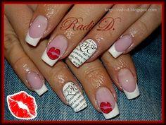 Love & Kisses by RadiD - Nail Art Gallery nailartgallery.nailsmag.com by Nails Magazine www.nailsmag.com #nailart