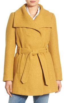 Yellow Waffle Woven Coat