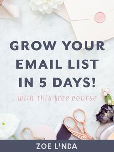 Starting an email list from scratch is hard work. That's why I'm telling you my favourite email list building methods from Pinterest strategy to opt-in freebies. If you want to learn more surefire ways to grow your email list, click through to sign up to my free email course. This course is perfect for new bloggers, online business owners, and creative entrepreneurs. #emailmarketing #emaillist #growemaillist #digitalmarketing