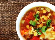 A hearty, delicious vegan barley-lentil soup recipe that uses no added oil or fat. Great dinner idea for the nights when you don't have a lot of time to cook. Vegan Barley Soup, Vegan Soups, Vegan Recipes, Cooking Recipes, Lentil Potato Soup, Lentil Soup Recipes, Great Dinner Ideas, Dinner Options, Vegan Christmas Dinner