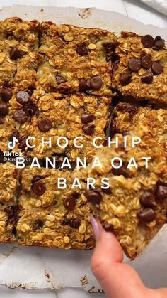 Healthy Dessert Recipes, Healthy Baking, Vegan Desserts, Healthy Desserts, Healthy Bars, Ripe Banana Recipes Healthy, Homemade Yogurt Recipes, Oatmeal Bars Healthy, Banana Snacks