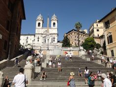 I walked down all of the Spanish Steps