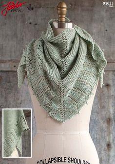 Pluma shawl. Knit it in Manos del Uruguays lovely yarn Fino.