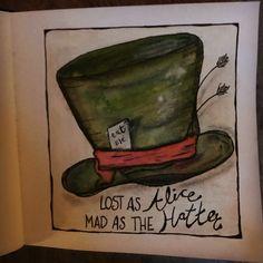 #notmylittleblackmoleskine #aliceinwonderland Losing Me, Alice In Wonderland, Painting, Art, Atelier, Art Background, Painting Art, Kunst, Paintings