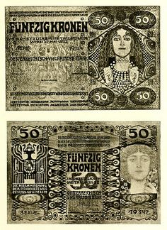 1914 Banknotes designed by Kolo Moser