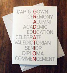 Graduation Card High School Graduation College 2012 Invitation Diploma Senior Alumni Cap and Gown by DesignsByTenisha, $1.50