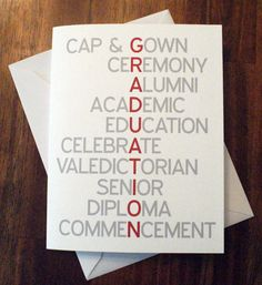 Graduation Cards are a necessity for a great graduation party!