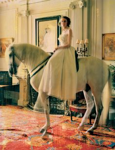 Yeah, bring a horse into the house and let it stand on top of a 40 thousand dollar, Persian Rug. by Tim Walker Yes