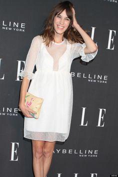 Alexa Chung in white