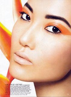 Orange accent #eyes