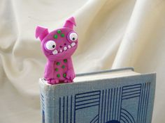 Kids Monster Bookmark Kid Bookmark Pink Bookmark by TwoOwlsAndACat, $16.00