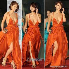 Oh In Hye 오인혜 from South Korea - Lenglui Cute Korean Girl, Cute Asian Girls, Angelina Jolie Body, Film Red, Grecian Goddess, Korean Women, Korean Lady, Red Carpet Dresses, Orange Dress