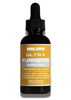 Organic Turmeric Curcumin Concentrated Drops with Bioperi