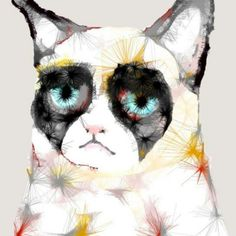 #grumpycat #illustration #art #lazygeometry