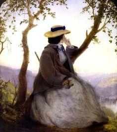 Portrait of Mary French, 1862 ~ John Ferguson Weir ~ (American: 1841-1926)