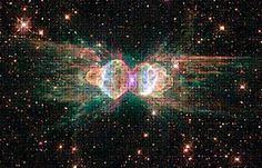 Ant Nebula, a cloud of dust and gas whose technical name is Mz3, resembles an ant when observed using ground-based telescopes. The nebula lies within our galaxy between 3,000 and 6,000 light years from Earth.
