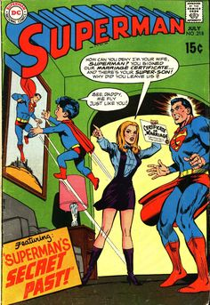Superman 218, July 1969, cover by Curt Swan and Jack Abel