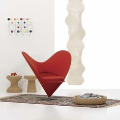 living room with Heart Cone Chair as a centerpiece.