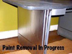 Refinishing a Steel Tanker Desk