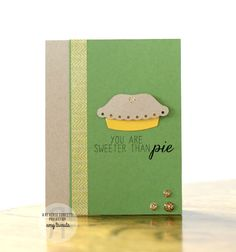 Card by Amy Tsuruta. Reverse Confetti stamp set and coordinating Confetti Cuts: Easy as Pie. Friendship card. Anniversary card. Valentine's card. Encouragement card.