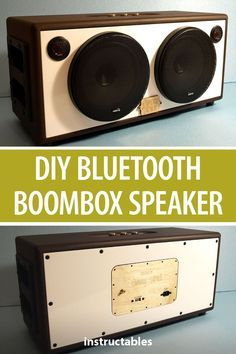 Make your own portable bluetooth boombox speaker. Electronics Projects, Diy Electronics, Diy Bluetooth Speaker, Diy Speakers, Boombox, Diy House Projects, Projects To Try, Radios, Smartphone Iphone