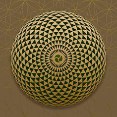Universal Connection Geometric Eye SOL-Art © All Rights Reserved Sacred Geometry Art Sacred Geometry Patterns, Sacred Geometry Tattoo, Op Art, Fibonacci Spiral, Flower Of Life, Sacred Art, Science Art, Geometric Art, Mandala Design