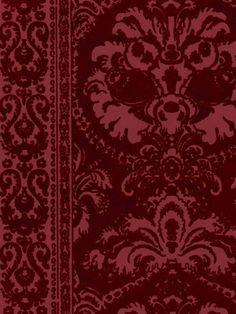 Victorian Flocked Velvet Wallpaper