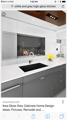 White and Grey Cabinet