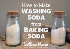 How to make washing soda from baking soda to save money and for use in many natural cleaning products.
