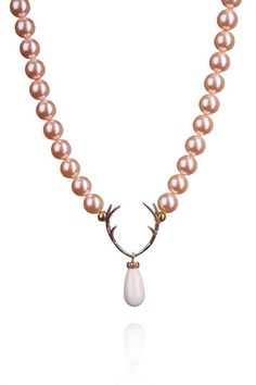 Rehfänger, apricot made with Swarovski®Pearls