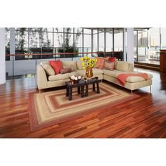 Homespice Decor Out-Durable Indoor/Outdoor Braided Area Rug - Barcelona - 311153 Living Room Images, Rugs In Living Room, Country Furniture, Cool Furniture, Country Rugs, Homemade Rugs, Braided Area Rugs, Indoor Outdoor Rugs, Barcelona