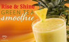 Rise and Shine Green Tea Smoothie Green Tea Smoothie, Tea Smoothies, Smoothie Recipes, Green Tea Recipes, Great Recipes, Sencha Tea, Canned Pineapple, Plain Yogurt, Recipe Using