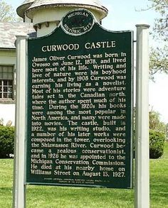 Curwood Castle Museum  Open to the public, 1-5 p.m. daily except Monday  224 Curwood Castle Drive  Owosso, Michigan