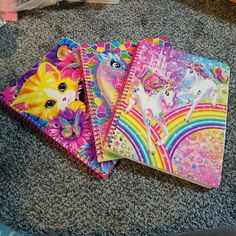 New unused lisa frank notebook set/lot 3 on Mercari Lisa Frank Notebook, Childhood Memories 90s, Indie Girl, Aesthetic Indie, Cute School Supplies, 90s Nostalgia, 90s Kids, British History, Tudor History