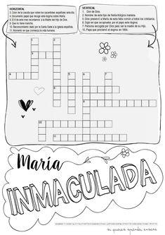 Varias fichas para trabajar la festividad de la Inmaculada Concepción, en los diferentes niveles de primaria.