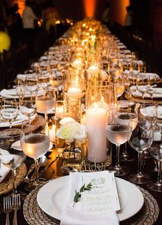 Tables were beautifully curated with a seemingly endless array of candles and small white florals. Take a look at this enchanting boho destination wedding: http://www.colincowieweddings.com/honeymoon-and-destination/enchanting-boho-destination-wedding