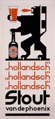 Gaphic Design by N. de Koo ca. Retro Ads, Vintage Advertisements, Vintage Ads, Vintage Posters, Beer Advertisement, Advertising, Sous Bock, Vintage Graphic Design, Vintage Designs