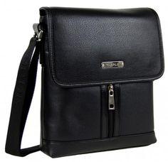 Menší černá pánská crossbody taška E601 - Kliknutím zobrazíte detail obrázku.