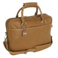Cheap Mercury Luggage Sondrio Leather Portfolio in Brown online - MYL1158 Features: Rich details include corded seams double stitched trim and custom hardware Main compartment Double zippered 'U' shaped opening Front slash pocket and interior zippered pocket with file sleeve and business card holder with...