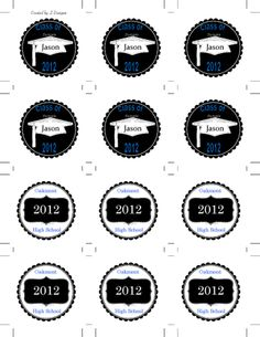 Graduation cupcake toppers free printable cupcake toppers free diy graduation cupcake toppers or favor tags negle Gallery
