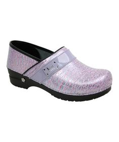Look what I found on #zulily! Lilac Lindsey Pearl Patent Leather Clog by Sanita #zulilyfinds