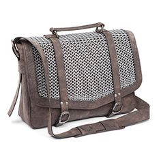 The Knight's Chain Mail Satchel is your basic messenger bag with one small addition - it wears a suit of chainmail!