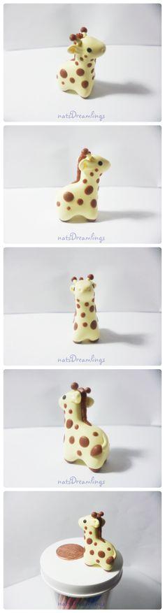 Polymer Clay Giraffe Miniature by Saru-Hime on DeviantArt