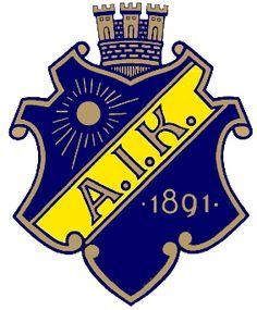 AIK Stockholm Primary Logo on Chris Creamer's Sports Logos Page - SportsLogos. A virtual museum of sports logos, uniforms and historical items. Football Squads, Football Cards, Football Team, Sweden Football, Soccer Logo, Bandy, Professional Football, European Football, Club