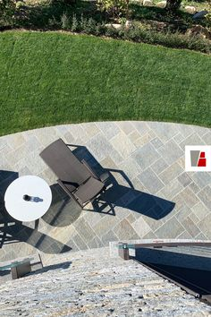 """Made by our stone installer, a pedestrian pavement in mixed gneiss stone. """"Romans"""" or """"Scottish"""" pattern. Picnic Blanket, Outdoor Blanket, Stone Slab, Pedestrian, Pavement, Romans, Contemporary, Garden, Pattern"""